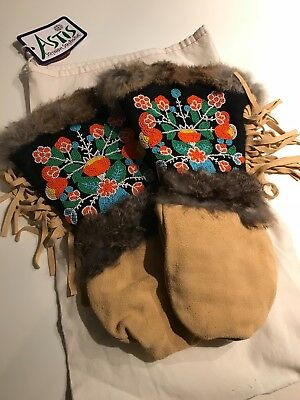 BRAND NEW Astis Sacagawea Mitts unisex, beaded suede