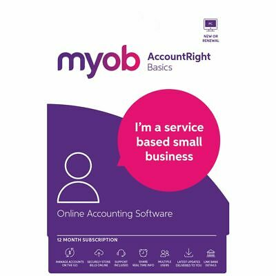 MYOB AccountRight Basics 1 PC 12 Month Card