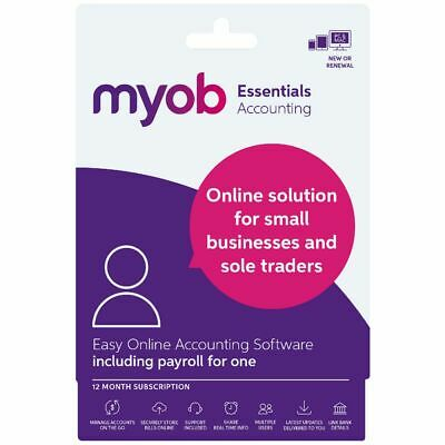MYOB Essentials 1 PC 12 Months Card