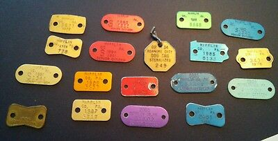 Lot Of 17-  Vintage *dog Tags*