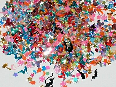 75pc Super tiny Magical Mix fairy dust Wings bats cat star clover mouse confetti