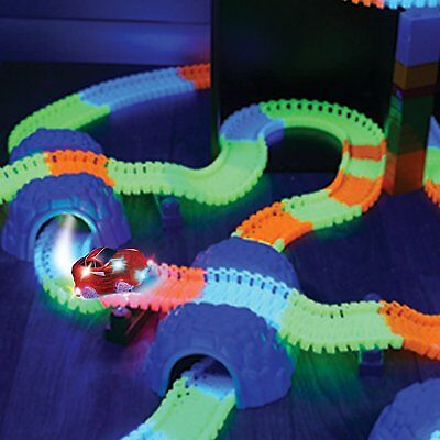 360Pcs Magic Tracks Mega Set With 2 LED Race Cars Glow In The Dark Kids Toy EU