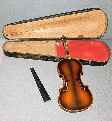 Full Size Vintage Violin With Wooden Case