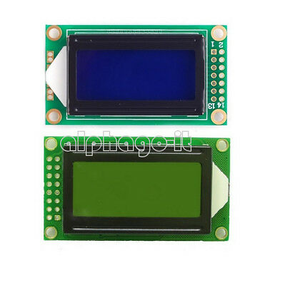 Yellow/Blue 0802 8x2 Character LCD Display Module 5V LCM F Raspberry pi Arduino