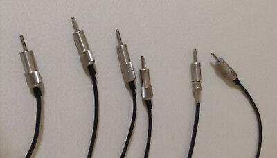 Coax Cables: Male Bruel and Kjaer (B&K) Connectors on one end BNC on the Other