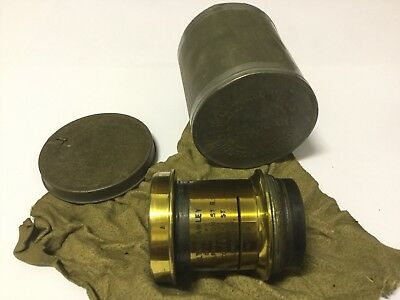 No.419 ANTIQUE LAWLEY BRASS LENS -Late 1800's 78 Farringdon,8 Coventry St London