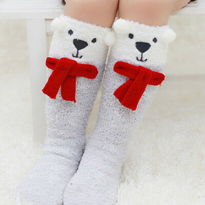 Warm Cotton Knee High Socks Leggings Unicorn Baby Infant  Children Kid Girls