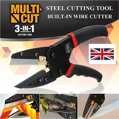 UK 3 In 1 Pliers Power Crimping Cutting Tool W/ Built-In Wire Cutter Scissor