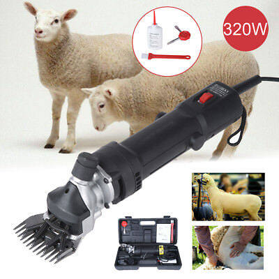 320W Electric Shearing Clippers Shears Sheep Goat Alpaca Trimmer Farm UK Plug