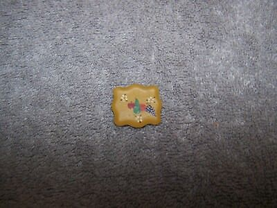1:12 Vintage Dollhouse Miniature Hand Painted Tray Not Signed