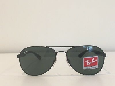 c2ae641605 17 Ray Ban RB 3549 006 71 Aviator Sunglasses Black Green Gold Gradient 58