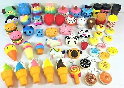 Squishy Jumbo Squishies Scented Charms Soft Toy Penguin Fries Cute Animal Food