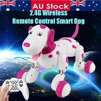 AU 2.4G RC Smart Dog Dance Walking Remote Control Robot Electronic Pet Kid Toy