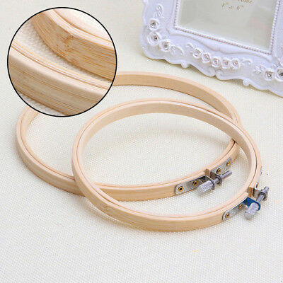 Bamboo Embroidery Hoop Cross Stitch Hot Machine 13-27cm Ring Sewing Wooden
