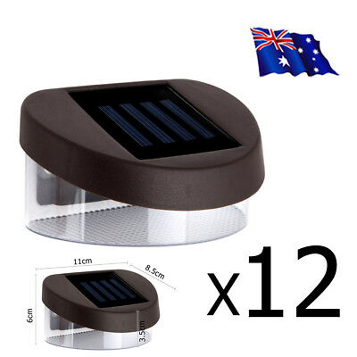 12X LED Solar Gutter Fence Lights Outdoor Garden Wall Pathway Lamp Security AU