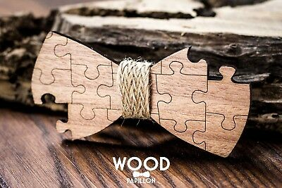 papillon in legno wood papillon design puzzle originale uomo matrimonio moda