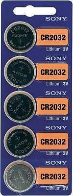 5 x Sony Batterie CR2032 Lithium 3V Knopfbatterie CR 2032 NEU #SO2032-5