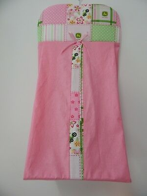 John Deere Pink Nappy Diaper Stacker 100% Cotton