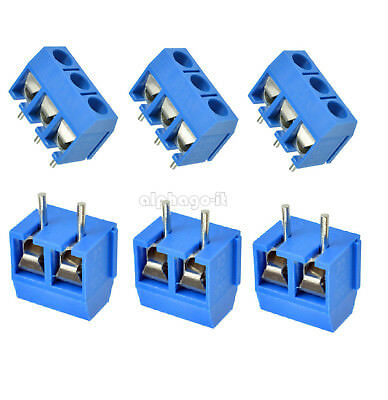 10/50PCS Terminal Connector Terminal Block 5.08mm Screw 2/3 way Pin KF301