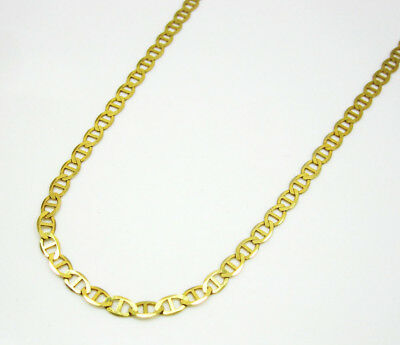 "Mens 14Kt Yellow Gold Mariner Link Chain Necklace 2.5MM 16""- 24"" Inches"
