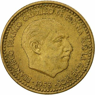 [#540854] Moneda, España, Francisco Franco, caudillo, Peseta, 1953, MBC