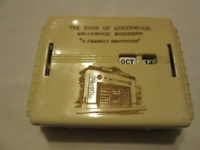 The Bank Of Greenwood,mississippi. A Friendly Institution.m.a. Gerrett Milwaukee
