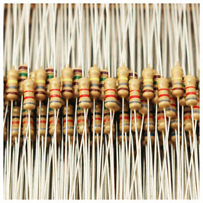 1500pcs 1 ohm~ 10M ohm 1/4W 75 Values Carbon Film Resistors Assorted kit 5% O3K8