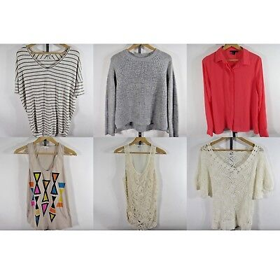 Forever 21 Lot Of 6 Womens Tops Blouses Shirts Sweater Medium M