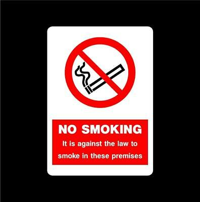 No Smoking Security Health and Safety Stickers Self Adhesive Decal P5C