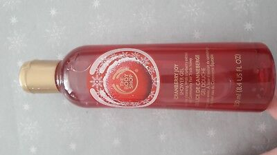 The body shop: cranberry- canneberge: gel douche