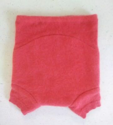 New! Cloth Diaper Cover Recycled Cashmere wool Shorties 6-12 month Wrap Soaker