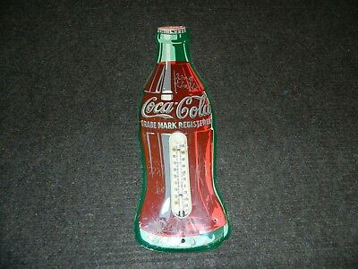 Vintage Coca Cola Thermometer Metal