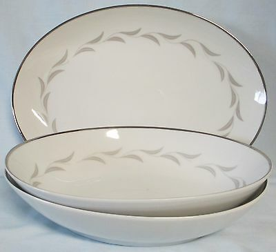 Nasco Paris Night Platter and 2 Serving Bowls, total of 3 Items