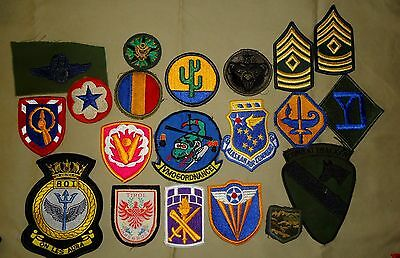 20 Different US Military Patches - WWII, Korea & Vietnam to Recent Types, Great!