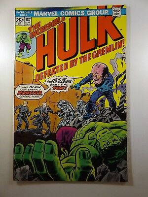 """The Incredible Hulk #187 """"Defeated by the Gremlin!"""" Classic Hulk VG+ Condition"""
