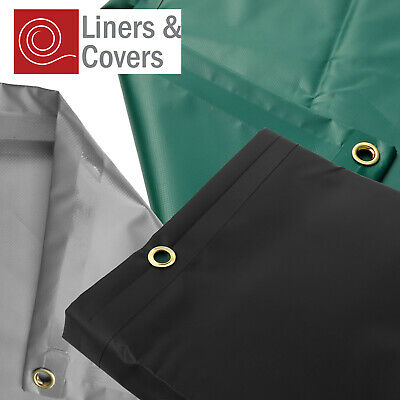 EXTRA Heavy Duty Waterproof PVC Tarpaulin Sheet with Eyelets - 610gsm
