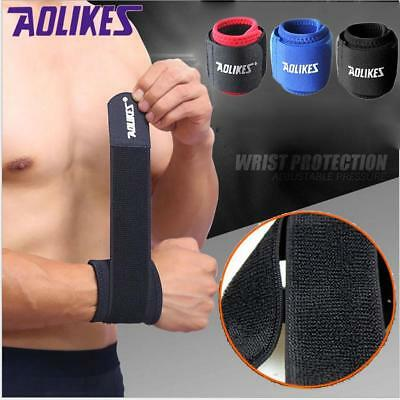 Weight Lifting Wrist Wraps Bandage Hand Support Gym Straps Brace Cotton HY #O