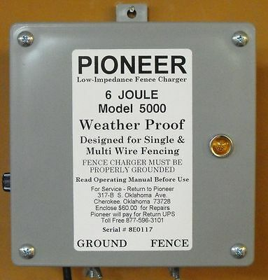 NEW Pioneer Electric  Fence Charger, Energizer, Fencer