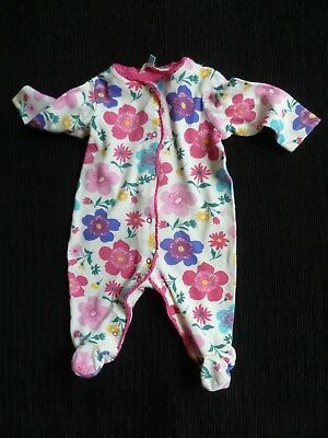 Baby clothes GIRL 0-3m bright floral babygrow John Lewis 2nd item post-free!