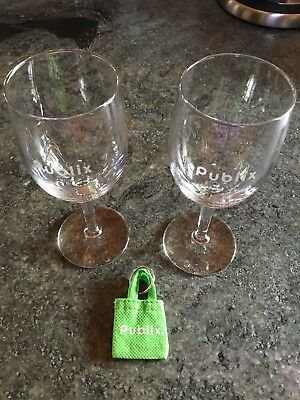 Publix Wine Glasses & Don't Forget Your Bags Key Chain