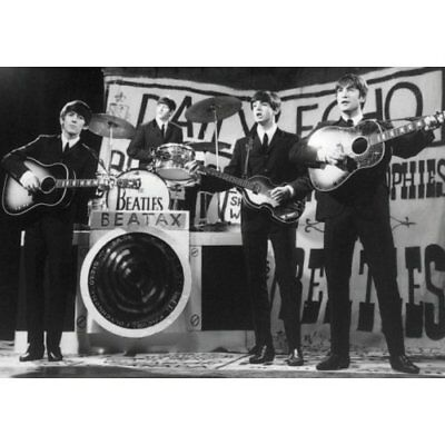 The Beatles The Beatles On stage B&W photo 100% Geuine Official Merchandise