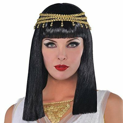 Amscan Gracious Gods and Goddess Egyptian Queen Wig (1 Piece), One Size, Black/G