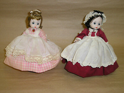 2 Vintage Madame Alexander-kins Little Women Dolls Marme Meg Bent Knee