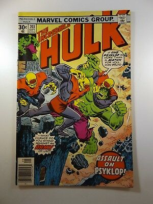 """The Incredible Hulk #203 """"Assault on Psyklop!"""" Fine Condition!"""