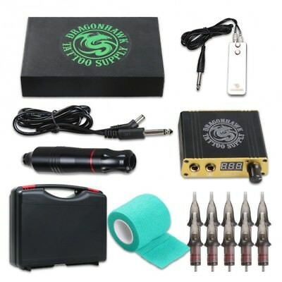 Dragonhawk Atom Hawk Pen Rotary Tattoo Set >>> Maschine Netzteil Fußpedal %SALE%