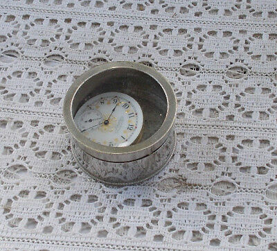 RARE Vintage American Waltham Pocket Watch Works Face O'Hara & Watch Holder NR
