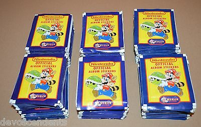 1992 MERLIN NINTENDO Stickers 300 Packets 1800 Stickers Super Mario Zelda SNES