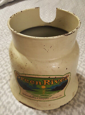 Antique Green River Schoenhofen Advertising Soda Fountain Syrup Dispenser Base