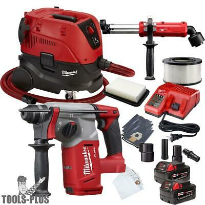 "Milwaukee 2712-22 M18 FUEL 1"" SDS Plus Rotary Hammer w/HEPA Dust Extractor New"
