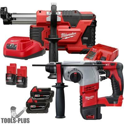 """Milwaukee 2605-22 18V M18 7/8"""" SDS Plus Rotary Hammer w/HEPA Dust Extraction New"""